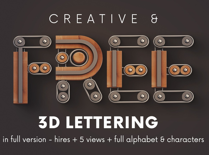 FREE Creator 3D Lettering Deeezy 3d typography 3d lettering 3d letters freebies free typography deeezy free font font free graphics typography freebie free