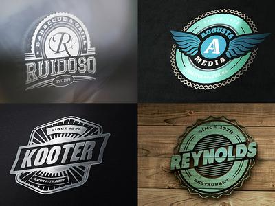 13 Retro Signs or Badges v.3