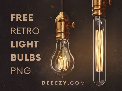 FREE Retro Light Bulbs PNG Graphics 3d bulb 3d free shapes free 3d shapes steampunk retro light bulb light bulb png deeezy retro vintage free graphics freebie free