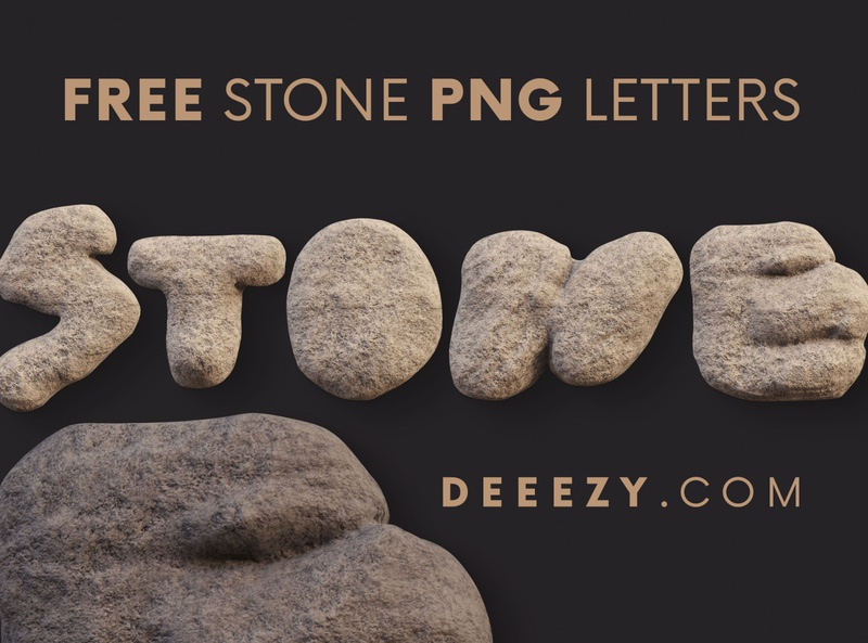 Free Rough Stone 3D Lettering 3d font 3d letters stone letters stone font flintstones stone freebies free typography deeezy free font font free graphics typography freebie free