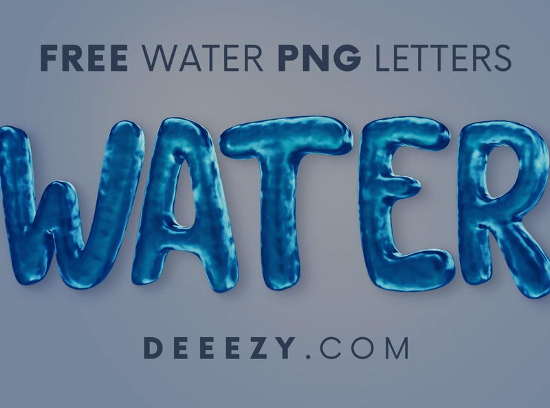 Free Water Funny 3D Lettering game cartoon funny font 3d font 3d letters water letters water font water deeezy free typography free font font free graphics typography freebie free