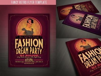 17 Ready to Print Retro Templates deal sale bundle dealjumbo retro vintage template flyer poster party