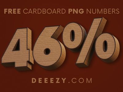 Cardboard - Free 3D Numbers decorative paper art numbers png artistic paper cardboard freebies free typography logo deeezy free font font free graphics typography freebie free