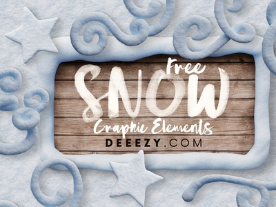 Snow & Winter - Free Graphic Elements christmas graphics christmas winter snow 3d shapes 3d png shapes free shapes free png deeezy free graphics freebie free