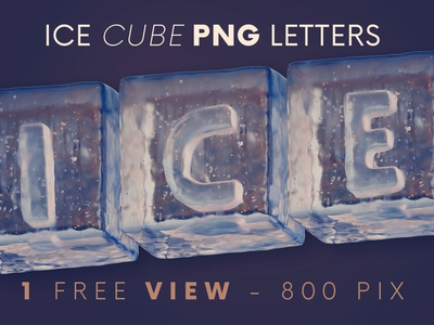 Ice Cubes - Free 3D Lettering 3d graphics 3d letters game header ice font funny font funny winter ice cube ice freebies free typography deeezy free font font free graphics typography freebie free