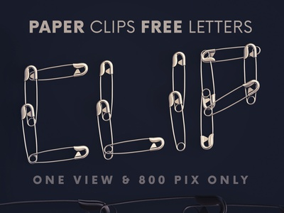 Paper Clips - Free 3D Lettering free downloads 3d letters png letters 3d typography 3d font funny font metalic office paper clip 3d freebies free typography deeezy free font font typography free graphics freebie free