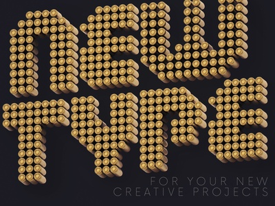 Bullets - Free 3D Lettering alphabet 3d typography game font war game bullets 3d free typography deeezy free font font typography free graphics freebie free