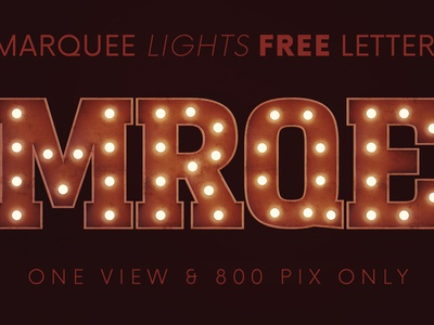 Marquee Lights - Free 3D Lettering light font urban sign vintage light bulbs marquee typeface lettering letters alphabet design free font deeezy font typography free graphics freebie free