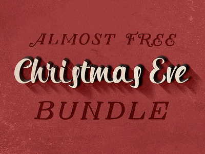 Almost FREE Christmas Eve Bundle dealjumbo deal bundle free fonts typography typeface logo badge textures vector mockup