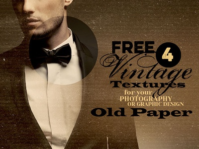4 Free Vintage Textures - Old Paper free freebie download dealjumbo photoshop texture effects retro vintage grunge paper old