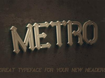Free Font - Metro Inline free typography modern typography futuristic font modern font free font cool typography typography logo font freebies free deeezy