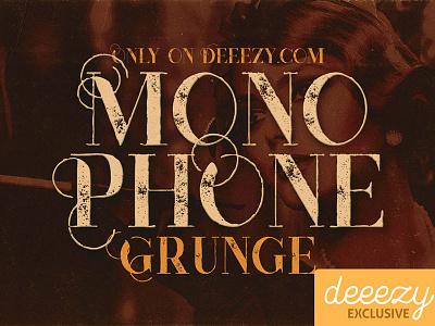 Free Font - Monophone Grunge vintage logo grunge freebies free font deeezy typography cool