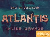 Free Font - Atlantis Inline Grunge