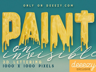 Painting On Invisible Free 3D Lettering paint 3d lettering 3d font 3d graphics free typeface free typography free graphics free font freebie free