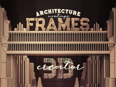 Vintage 3D Frame Creator by CruzineDesign - Dribbble