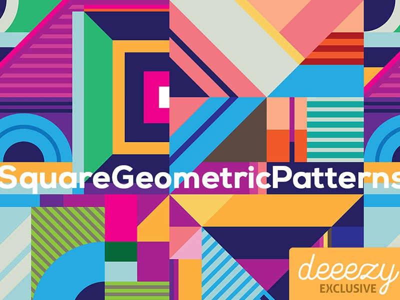 Download Free Square Geometric Patterns