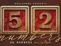 Free Vintage Wooden Box 3D Numbers