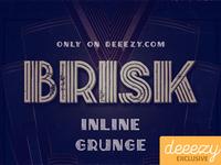 Free Font - Brisk Inline Grunge
