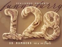 Funny Furry – FREE 3D Numbers