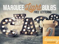 Free Marquee Light Bulbs Lettering