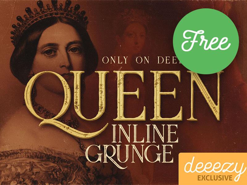 Free Font – Queen Inline Grunge