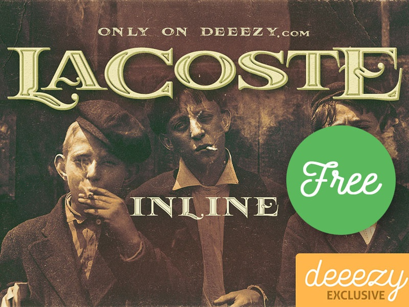 Free Font – LaCoste Inline