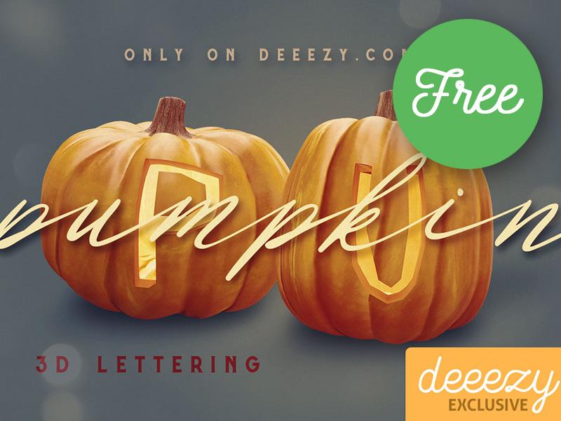 FREE Pumpkin 3D Lettering