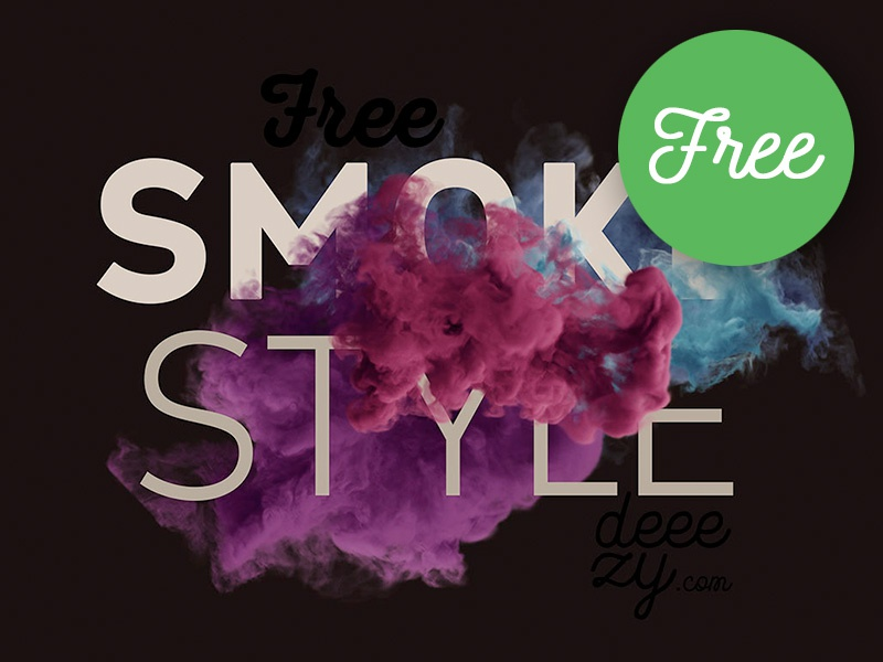 Download FREE Smoke Scene Mockup