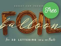 Free Foil Balloon 3D Lettering