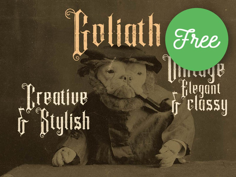 FREE Font - Goliath Inline Grunge by CruzineDesign on Dribbble