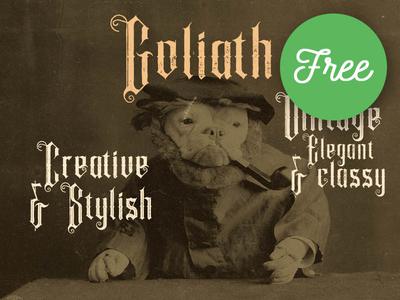 FREE Font - Goliath Inline Grunge