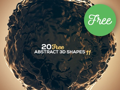 FREE 3D Abstract Shapes 11 futuristic 3d shapes 3d backgrounds graphics wave abstract free downloads free backgrounds free graphics freebie free