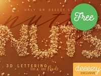 FREE Nutty Nuts 3D Lettering