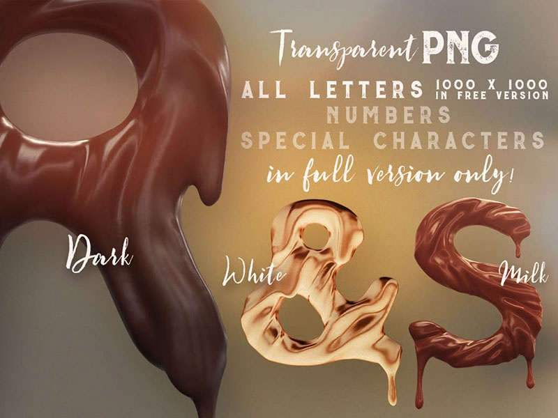 FREE Chocolate 3D Lettering free typeface creative typeface choco chocolate food typography free font free lettering free 3d lettering free graphics freebie free