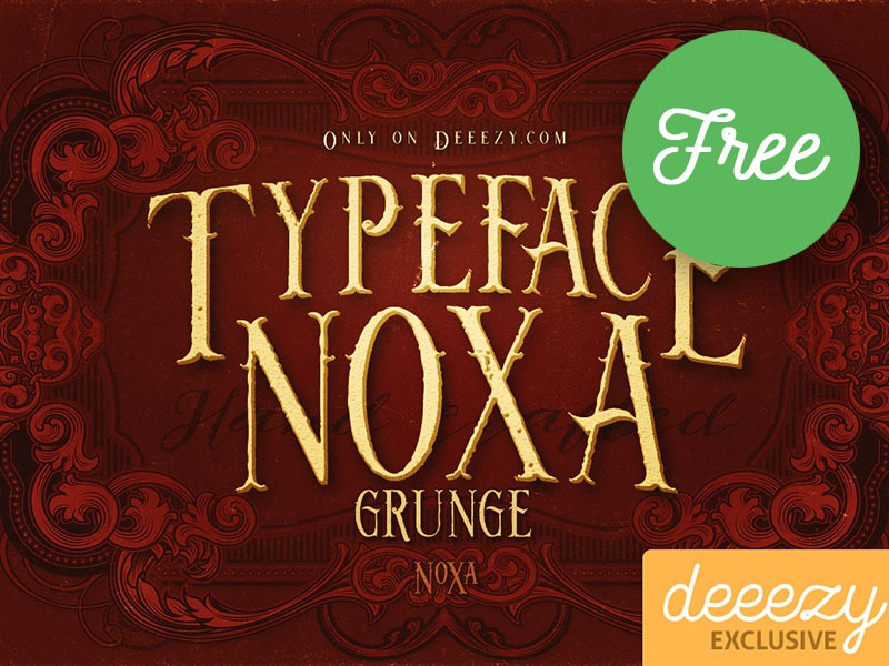 Noxa Grunge FREE Font by CruzineDesign on Dribbble