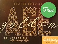 FREE Golden Age 3D Lettering