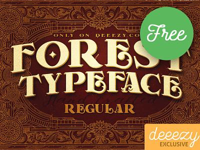 Forest Regular FREE Font bold font retro typography vintage typography victorian font decorative font display font vintage font serif font free font freebie free