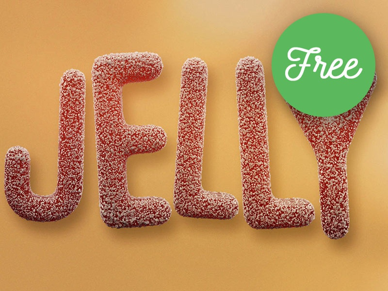 FREE Jelly Candy 3D Lettering