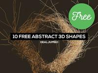 10 FREE Futuristic 3D Shapes
