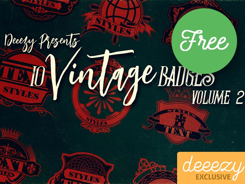 10 Free Vintage Badges 2 by CruzineDesign | Dribbble | Dribbble