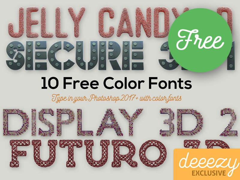 10 Free Color SVG Fonts 1 by CruzineDesign on Dribbble
