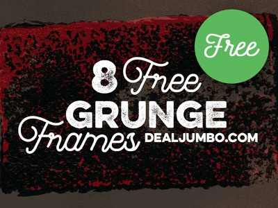 8 Free Grunge Frames brush artistic paint borders frames shapes grunge free textures free shapes free graphics freebie free