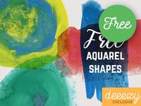 Free Aquarel Shapes