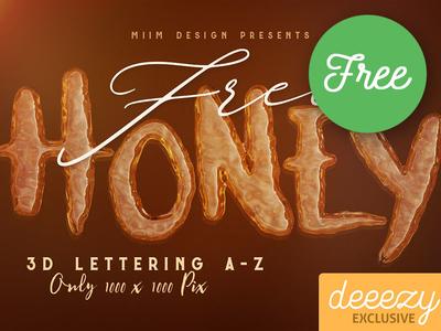 Honey Honey FREE 3D Lettering