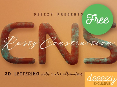 Rusty Construction - Free 3D Lettering