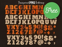 Free Creative PNG Lettering 1