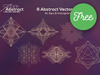 Free Abstract Line Art Shapes