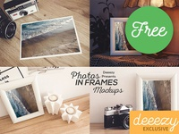 Photo in Frame – Free Mockups