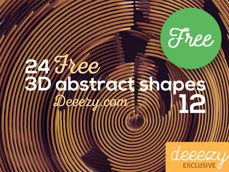 Free 3d Abstract Shapes 12 By Cruzinedesign On Dribbble