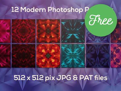 12 Free Modern Geometric Patterns creative colorful geometric patterns geometric free backgrounds free patterns photoshop patterns design free graphics freebie free